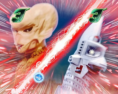 カプセル怪獣リーチ中に「赤系」のチャンスアップが発生