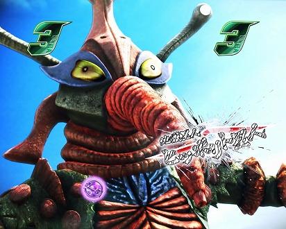 VS強敵リーチ発展時に表示されるタイトルの色or怪獣名称の色が「赤以上」2