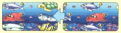 ノーマルリーチ→中心に貝停止